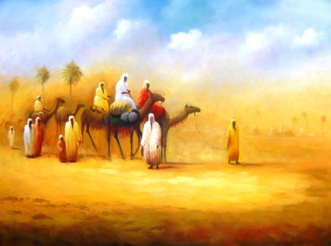 Beduínos Cruzando o Deserto