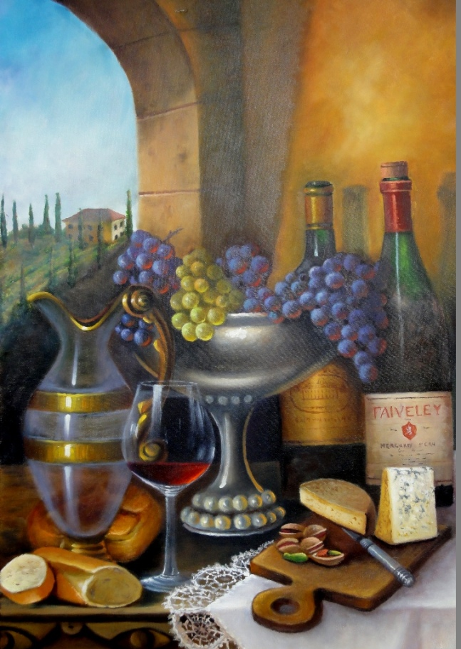 Mesa posta na Toscana